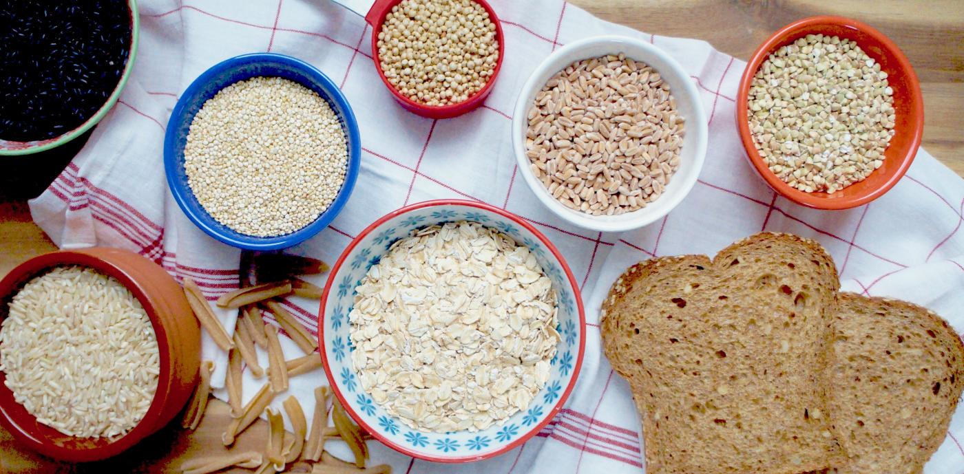assorted uncooked whole grains