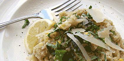 basil barley risotto