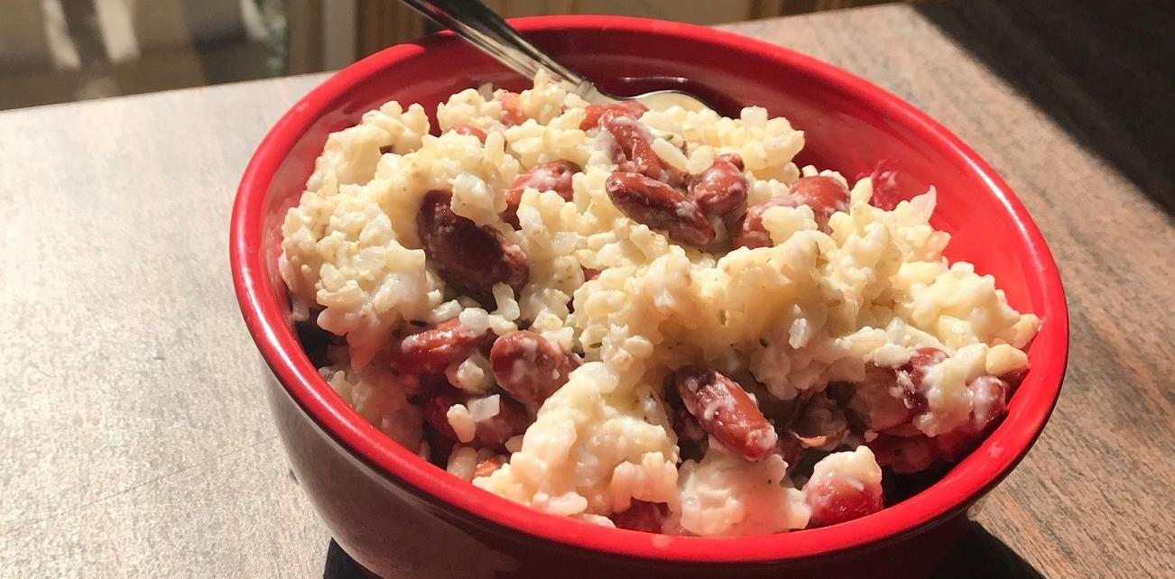 Brown Rice & Red Beans in Light Coconut Milk