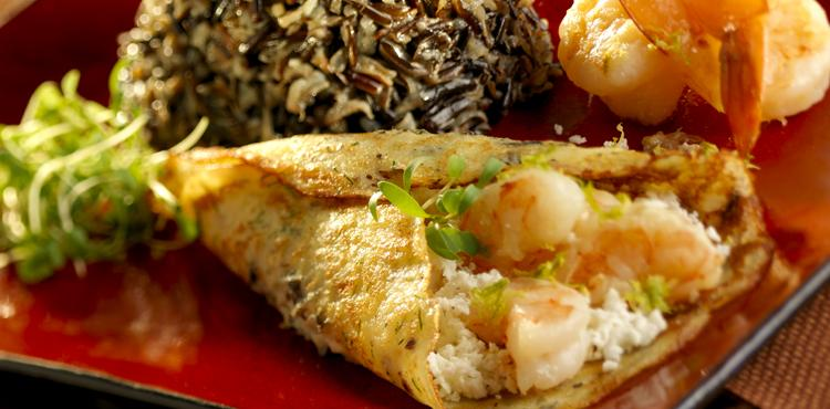 Crepes Chili Lime Shrimp