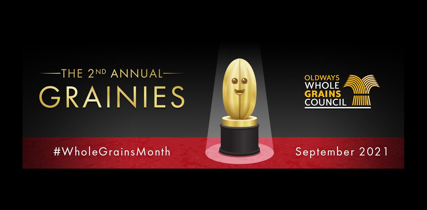 Banner for Whole Grains Month Granies Awards