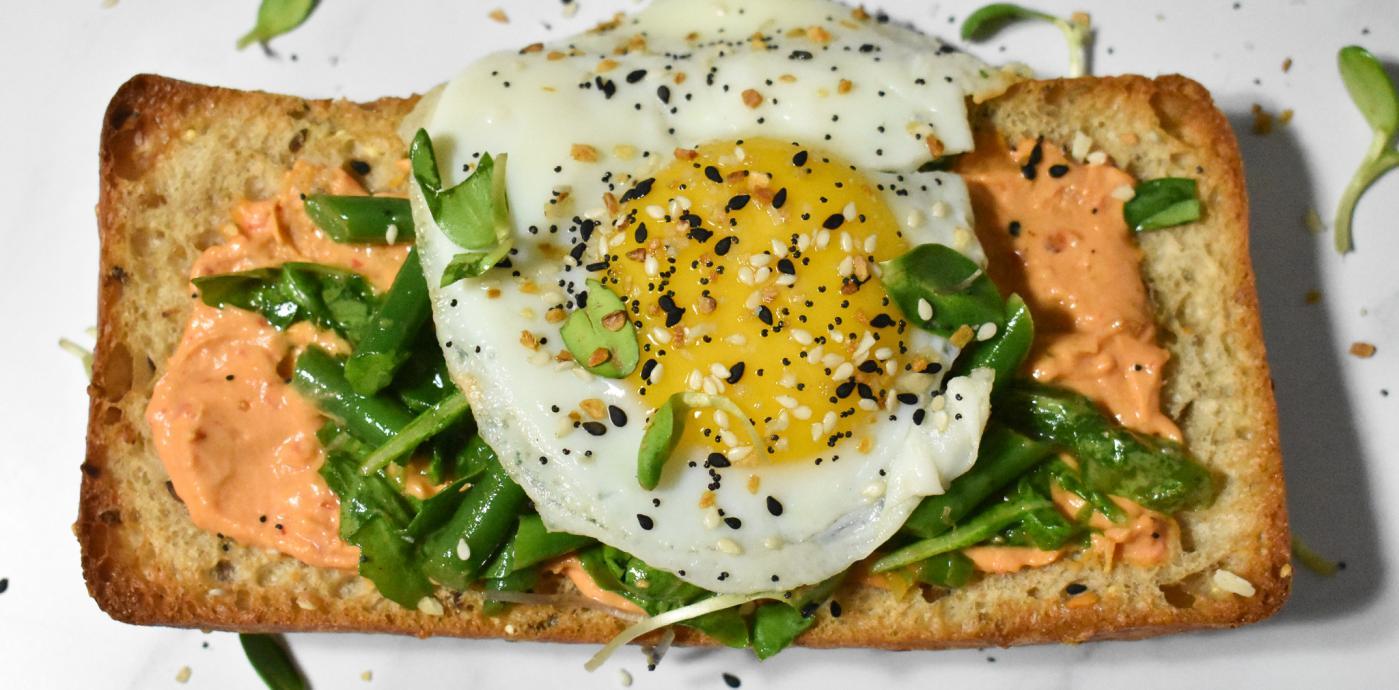 Harissa Hummus Breakfast Tartine