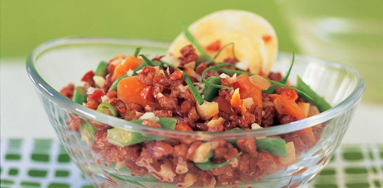 Indonesian Red Rice Salad