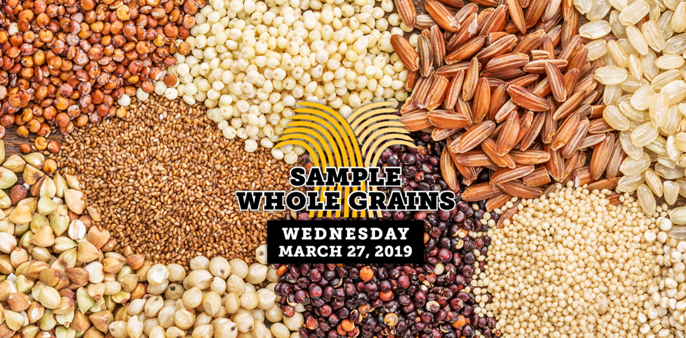 Whole Grain Sampling Day graphic