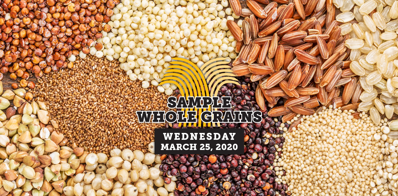 Whole Grain Sampling Day banner