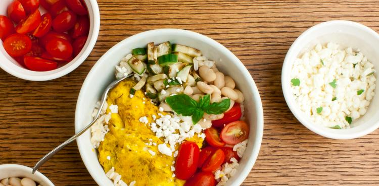 Egg Brown Rice Breakfast Bowl