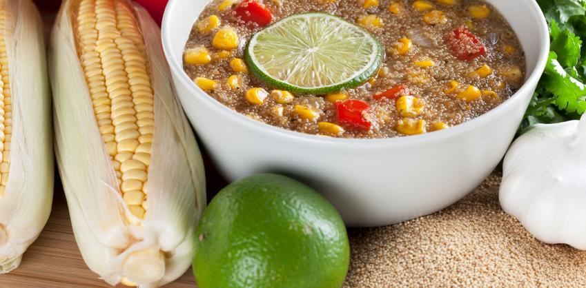 amaranth corn chowder
