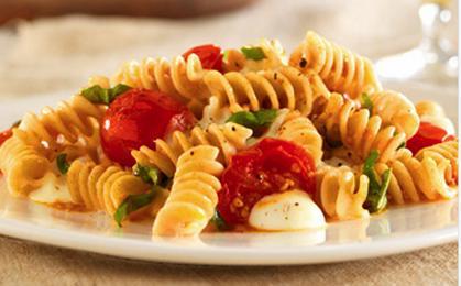 Rotini Cherry Tomatoes Mozarella