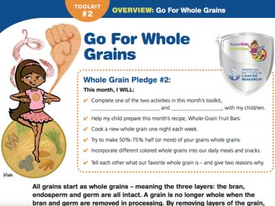 AICR Healthy Kids Whole Grain Toolkit