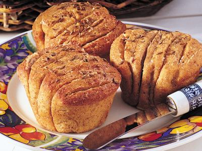 Accordion Rye Rolls