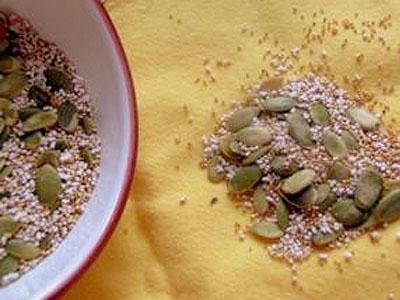 Amaranth and Pumpkin Seeds