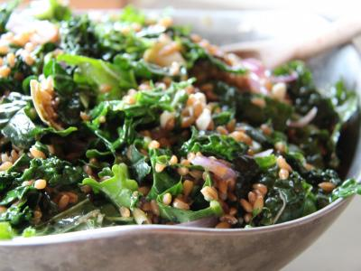 Artichoke Heart, Kale and Farro Salad