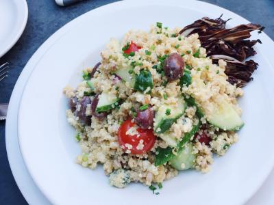 quinoa salad at Audubon