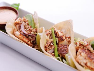 Baja Fish Tacos with Quinoa