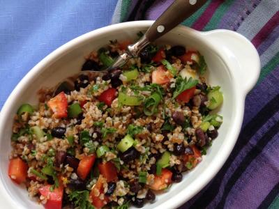 Black Bean Bulgur Orange Salad
