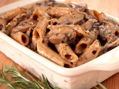 Brown Rice Pasta Mushroom Casserole