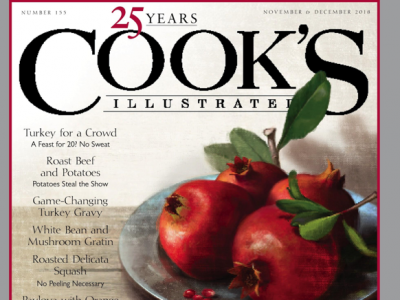 Cover of Cook's Illustrated Magazine