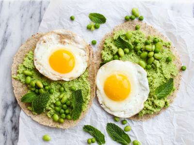 Edamame Sweat Pea Egg Breakfast Tortillas