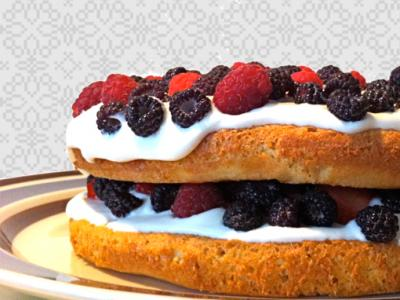 Whole Grain Berry Cake