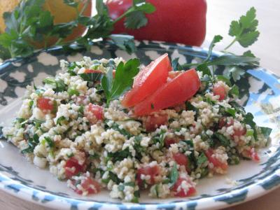 Whole wheat tabbouleh