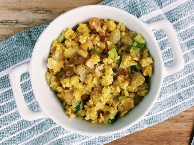 millet with zucchini and chickpeas