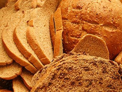 Array of whole grain breads