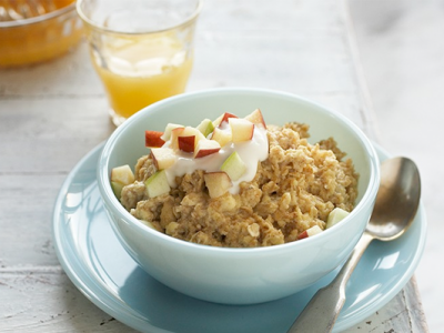 Oatmeal with an Egg Boost
