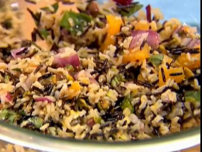 Orange Pistachio Wild Rice