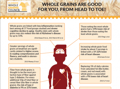 handout showing how whole grains are good for you