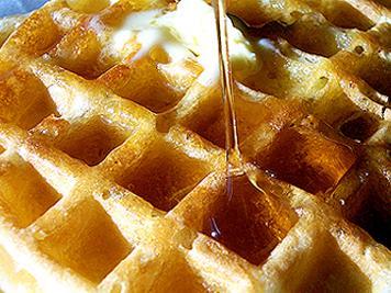Sesame Ginger Spelt Waffles
