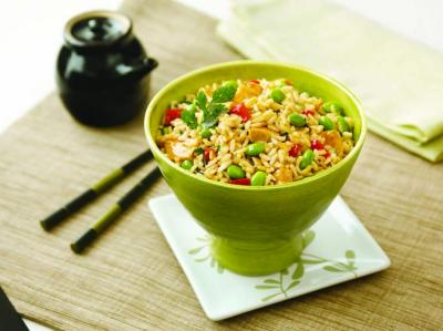 Teriyaki Chicken Edamame Rice Bowls