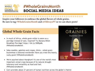 Whole Grains Month Social Media Ideas