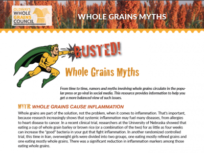 whole grain myths busted handout