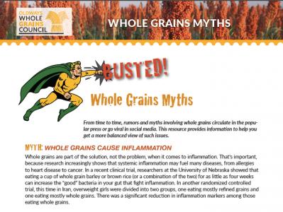 whole grain myths busted handout