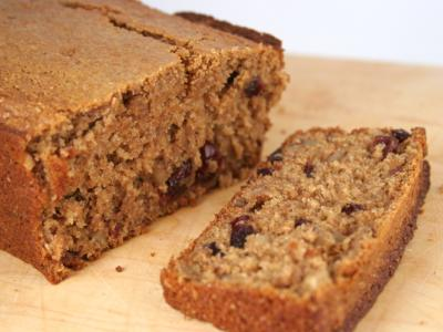 Wheat Bran Cranberry Quickbread