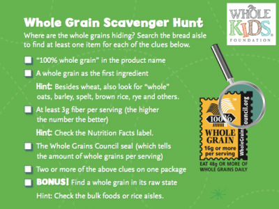 Choose Whole Grain Bread handout from the Whole Kids Foundation
