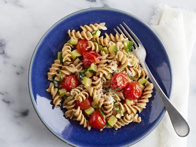 Whole Grain Rotini with Zucchini and Tomatoes