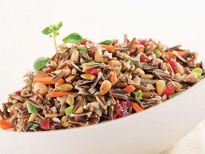 Wild Rice Salad with Pepitas and Cranberries