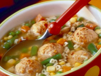 ABC Meatball Soup