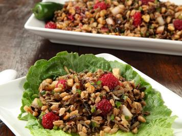Gingered Farro and Wild Rice Salad