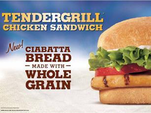 Look! Whole Grain Ciabatta at Burger King!