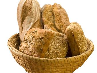 White bread is fortified with folic acid. Whole grain has natural folate.