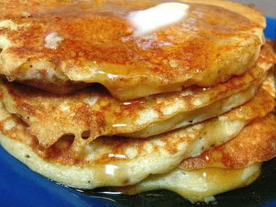 light and flufy whole grain pancakes