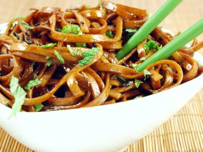 Noodles and scallions for breakfast?