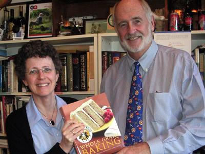 Dun Gifford and Cynthia Harriman pack the book for shipping.