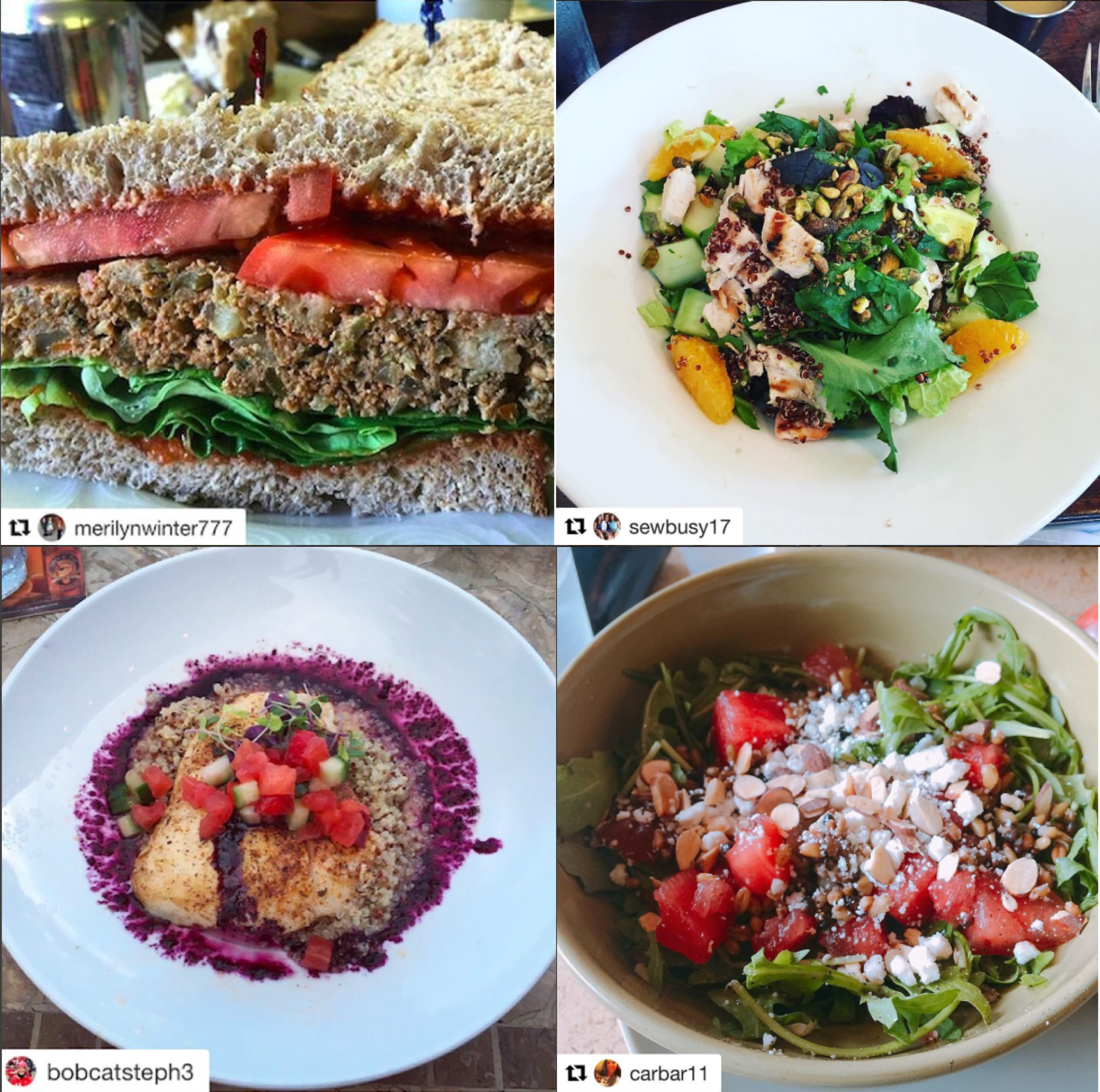 photos of winning entries for 2016 whole grains month contest