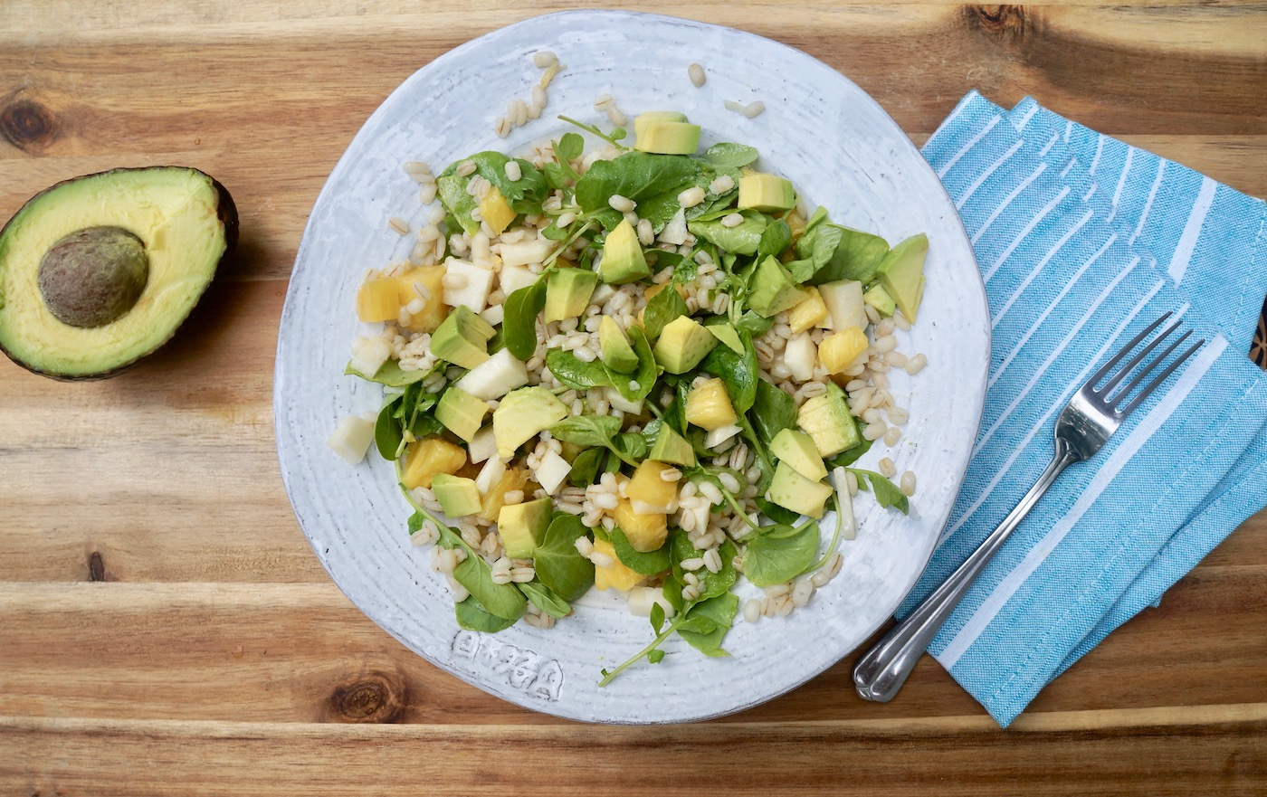 Barley Pineapple Jicama Salad, a recipe from our book