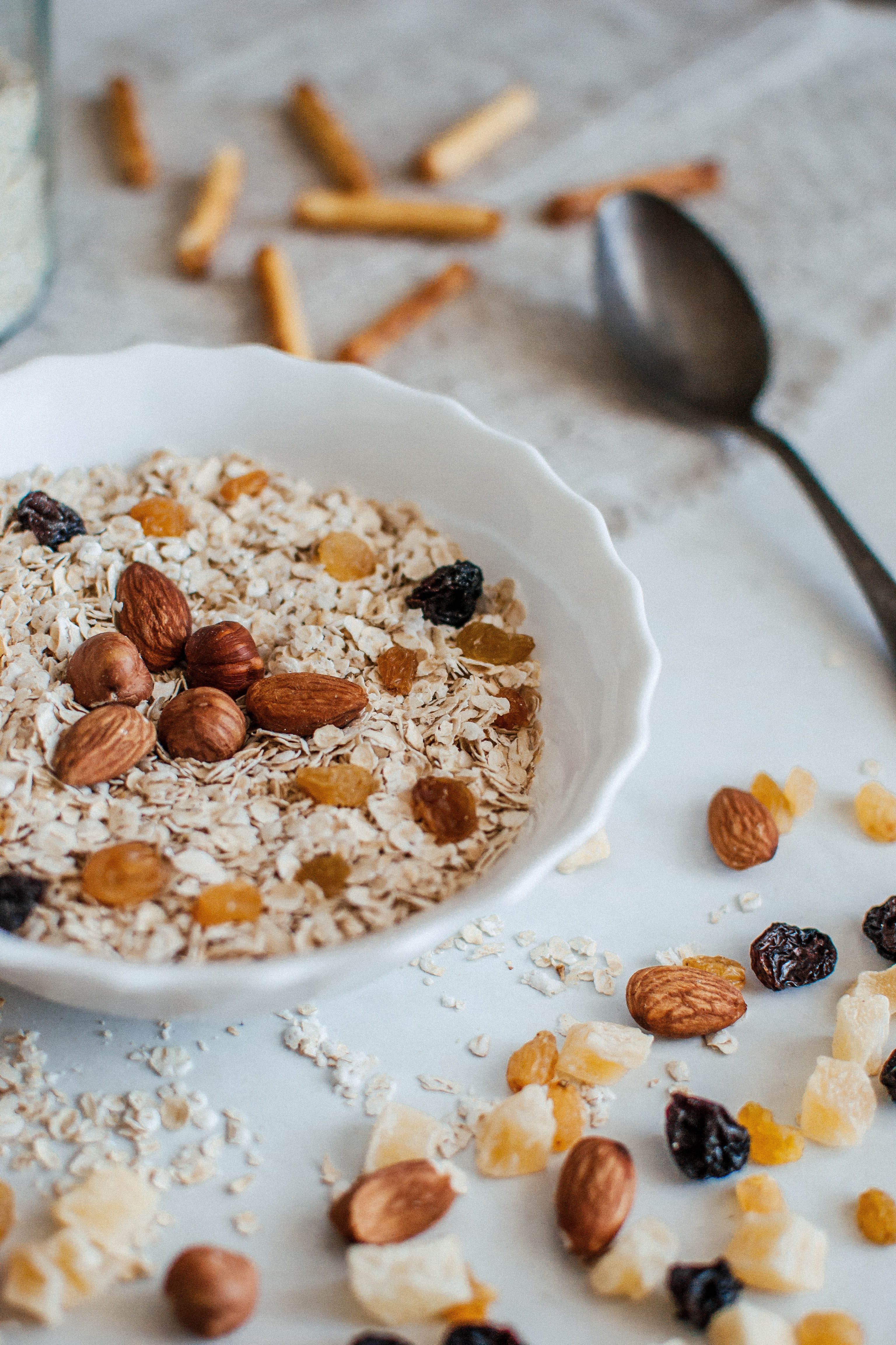 Bowl of Oats and Nuts