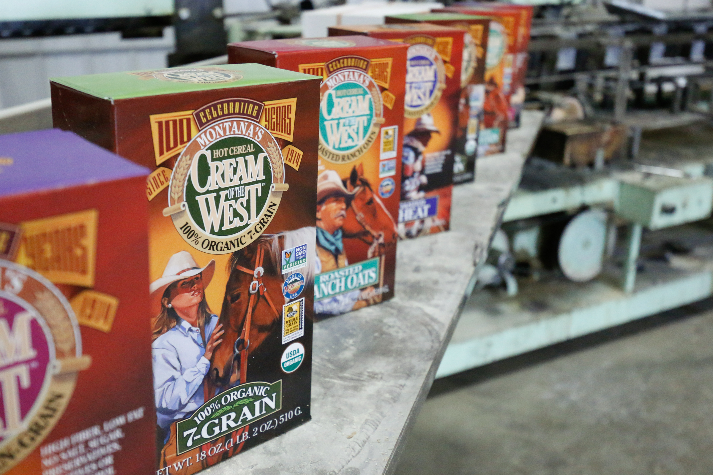 Boxes of Cream of the West product