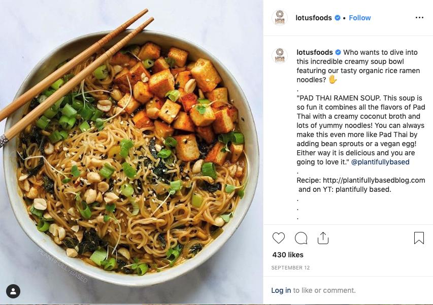 Lotus Foods photo of brown rice ramen bowl